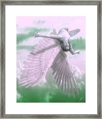 Fall Of Icarus - Cool Tones Framed Print
