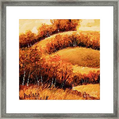 Framed Print featuring the painting Fall by Igor Postash