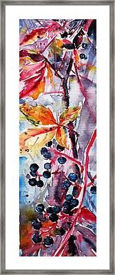 Framed Print featuring the painting Fall II by Kovacs Anna Brigitta