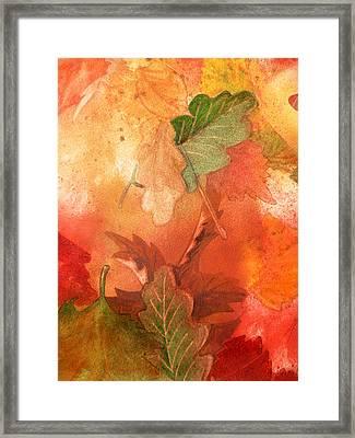 Fall Impressions V Framed Print by Irina Sztukowski