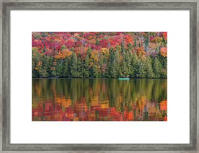 Fall In A Canoe Framed Print