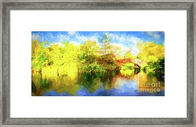 Framed Print featuring the photograph Fall In Central Park by Jim  Hatch