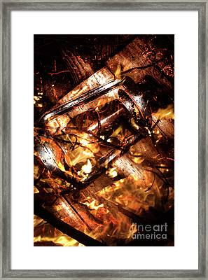 Fall In Fire Framed Print by Jorgo Photography - Wall Art Gallery