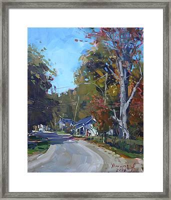 Fall In Glen Williams On Framed Print