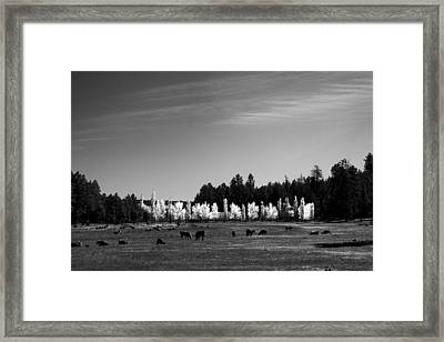 Fall In Line 2 Framed Print