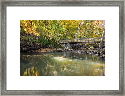 Framed Print featuring the photograph Fall In Motion by Steven Santamour
