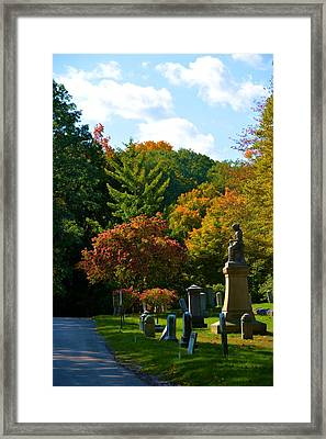 Fall In Mount Hope Cemetery 1 Framed Print by Richard Jenkins