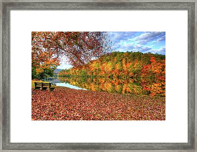 Framed Print featuring the digital art Fall In Murphy, North Carolina by Sharon Batdorf