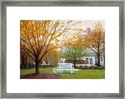 Fall In Nj Framed Print by David Olander