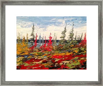 Fall In Oil No.1 Framed Print