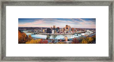 Fall In Pittsburgh  Framed Print