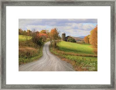 Fall In Rural Pennsylvania Framed Print