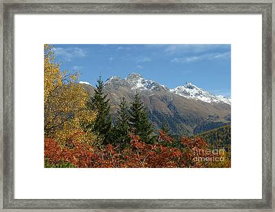 Fall In St. Moritz Framed Print by Stan and Anne Foster