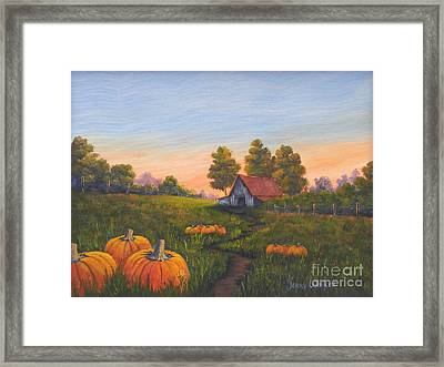 Fall In The Air Framed Print by Jerry Walker