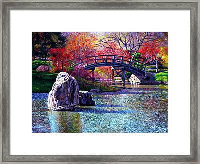 Fall In The Garden Framed Print by John Lautermilch
