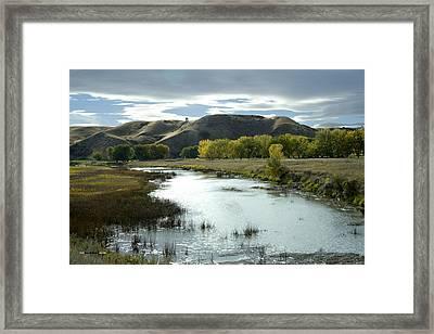 Fall In The River Bottom Framed Print