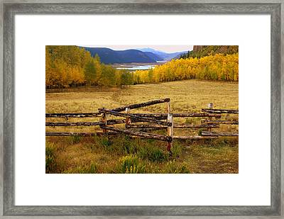 Fall In The Rockies 2 Framed Print by Marty Koch