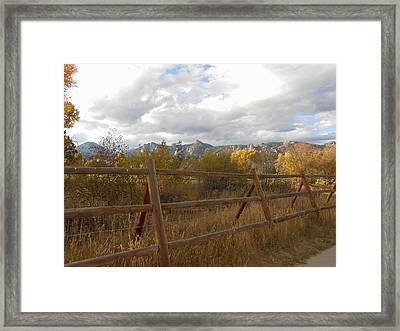Fall In The Rockies Framed Print by Julie Grace