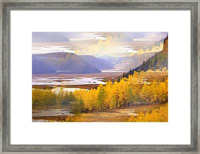 Fall In The Rockies Framed Print by Marty Koch