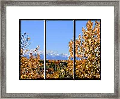 Fall In The Rockies - Triptych Framed Print