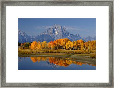 Fall In The Tetons Framed Print by Eric Foltz