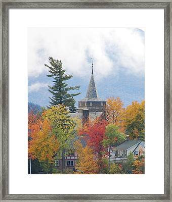 Fall In Upstate New York Framed Print by Becky Hollis