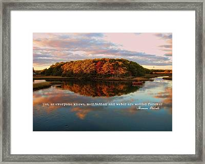 Fall In Wellfleet Quote Framed Print by JAMART Photography