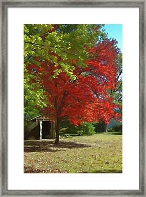 Framed Print featuring the photograph Fall Is Coming by Michael Flood