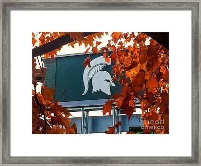 Fall Is Football Framed Print