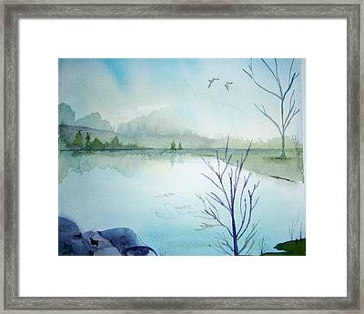 Fall Is In The Air Framed Print by Audrey Bunchkowski