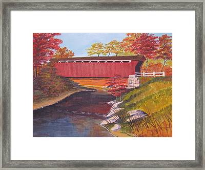 Fall Is In The Air Framed Print by CB Woodling