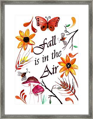 Fall Is In The Air Framed Print by Sweeping Girl