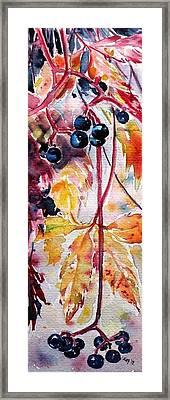 Framed Print featuring the painting Fall by Kovacs Anna Brigitta