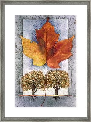 Framed Print featuring the painting Fall Leaf by John Dyess