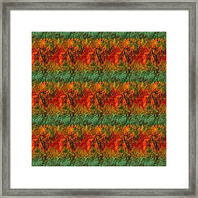 Fall Leaves Collage Framed Print by Antique Images
