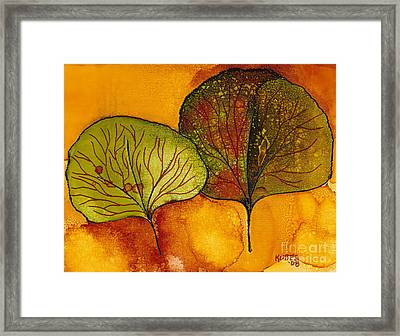 Fall Leaves  Framed Print by Susan Kubes
