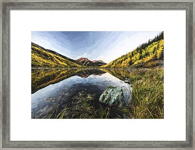 Fall Mirror II Framed Print