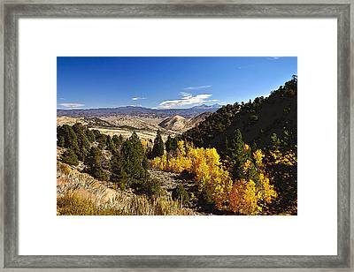 Fall Monitor Pass Framed Print by Larry Darnell
