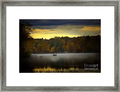 Fall Morn On The Chippiwa Framed Print by The Stone Age