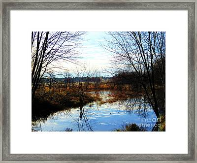 Fall Morning At Deer Camp Framed Print by Desiree Paquette