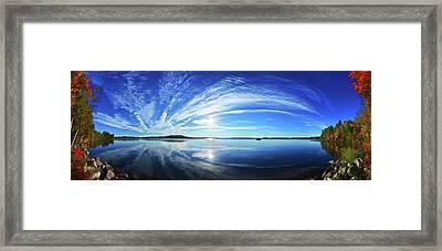 Fall Morning At Meddybemps Framed Print