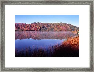 Fall Morning On The Lake Framed Print by Thomas R Fletcher