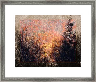 Fall Mountain Framed Print