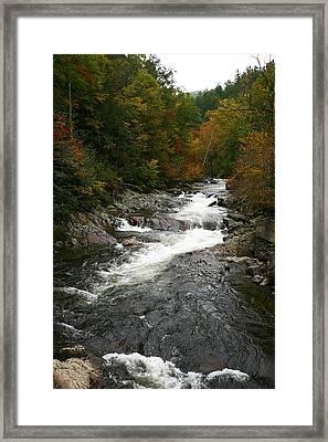 Fall Mountain Stream Framed Print by James Jones