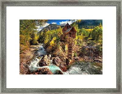 Fall N Mill  Framed Print