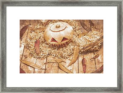 Fall Of Halloween Framed Print