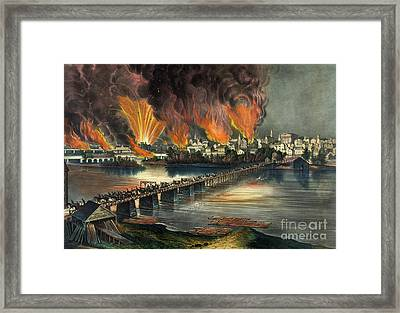 Fall Of Richmond Framed Print