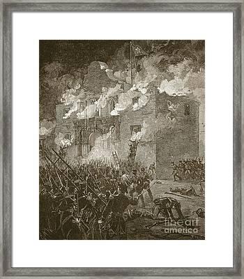 Fall Of The Alamo Framed Print