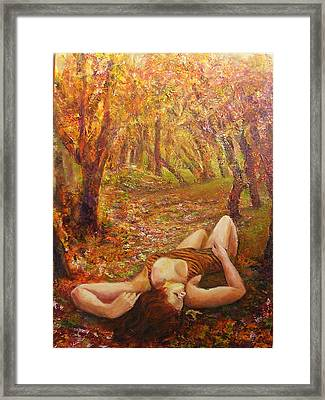 Fall Of The Leaves Framed Print