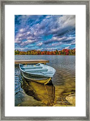 Fall On Alloway Lake Framed Print